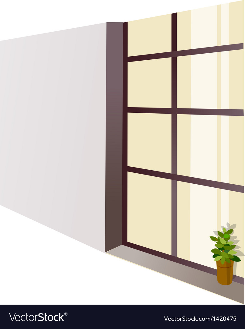 Window sill flowerpot vector | Price: 1 Credit (USD $1)