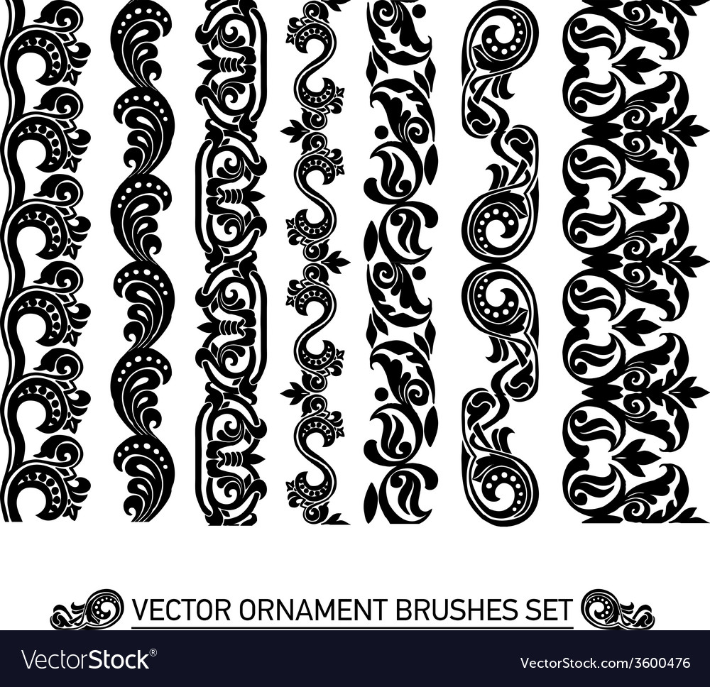 Brushes set vector | Price: 1 Credit (USD $1)