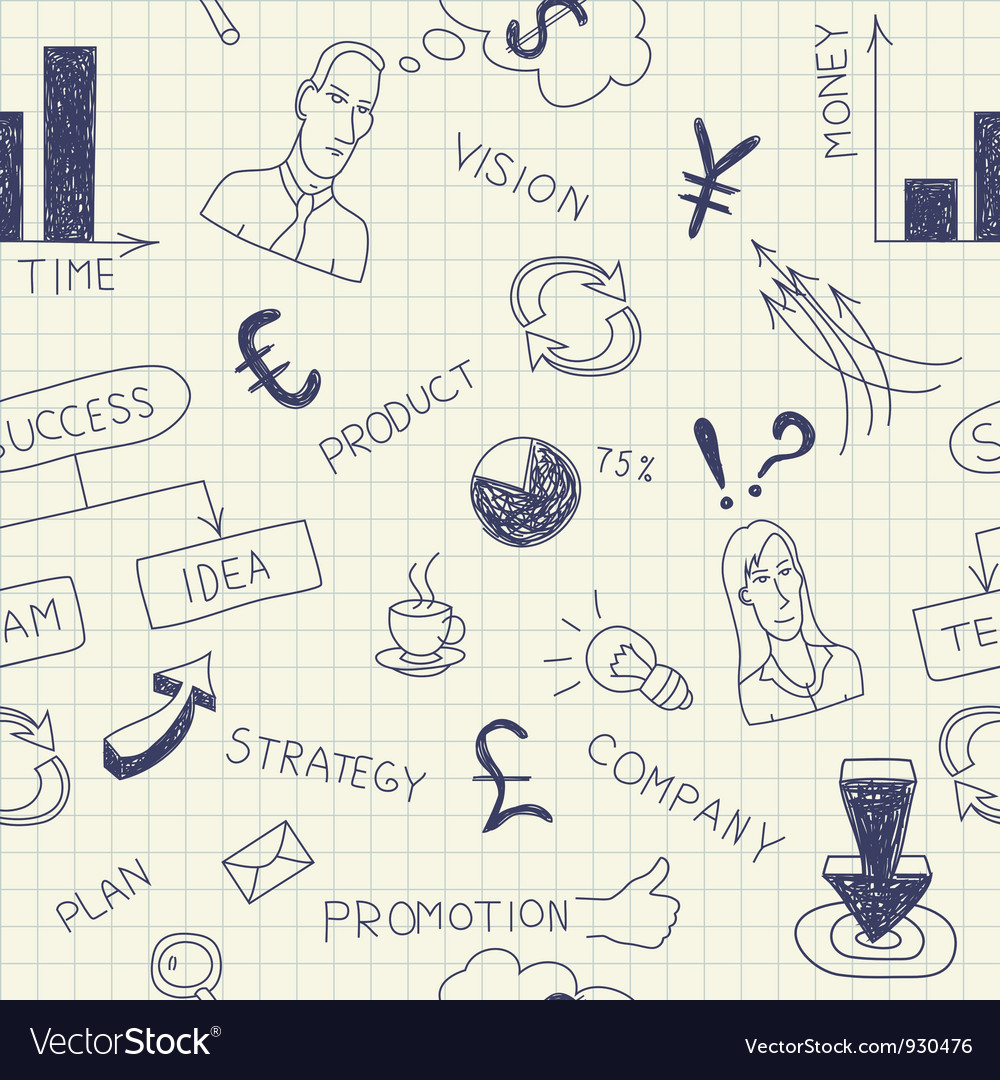 Business ink doodles on paper vector | Price: 1 Credit (USD $1)