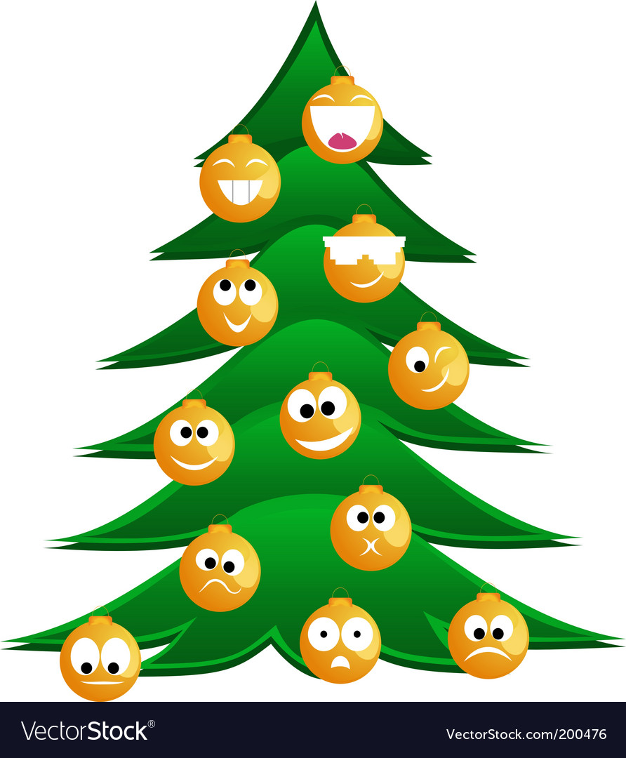 Christmas fur tree vector | Price: 1 Credit (USD $1)