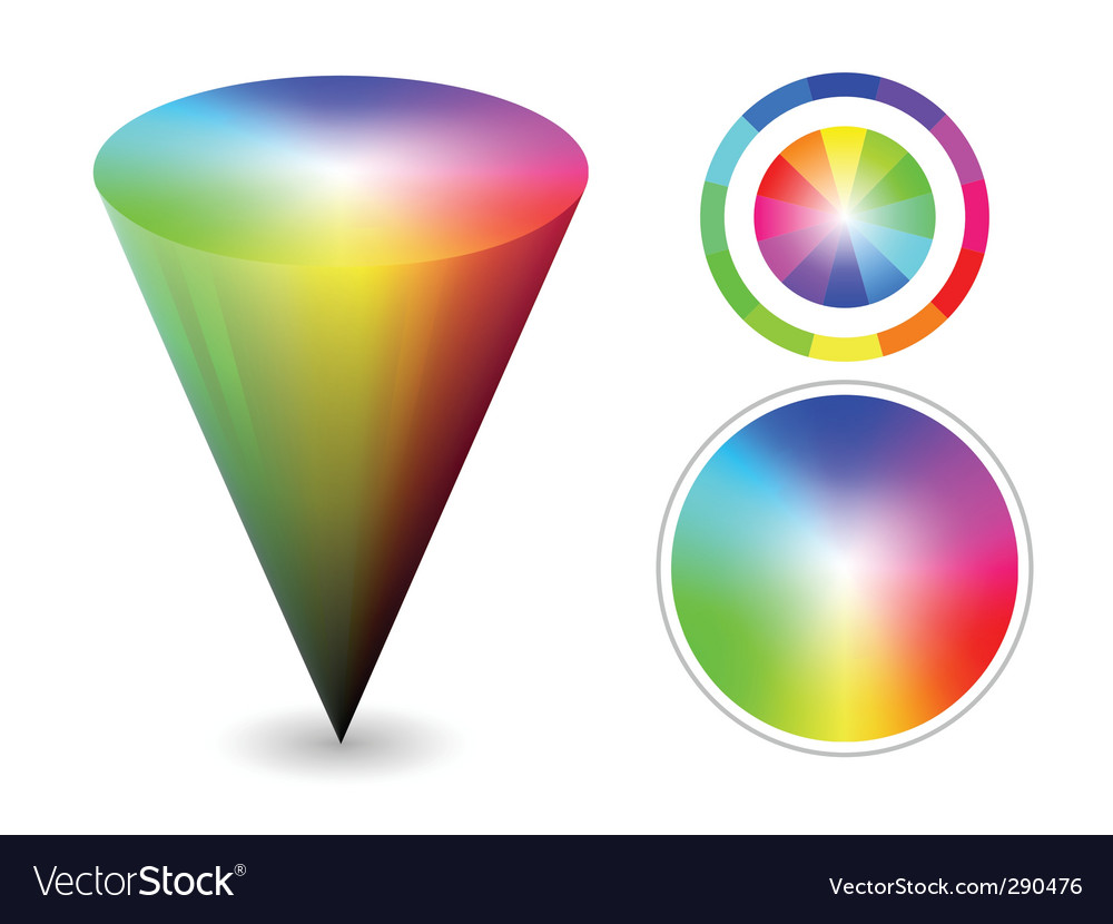 Color cone vector | Price: 1 Credit (USD $1)