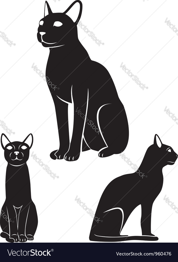 Egyptian cat vector | Price: 1 Credit (USD $1)