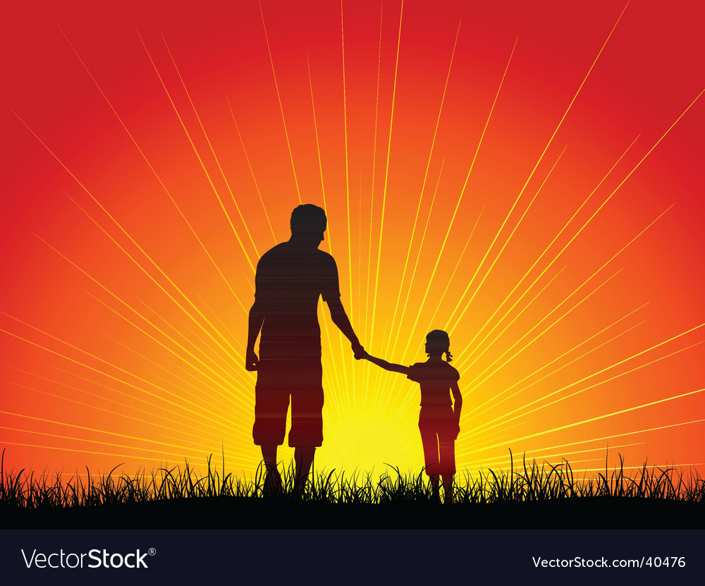 Father and daughter vector | Price: 1 Credit (USD $1)