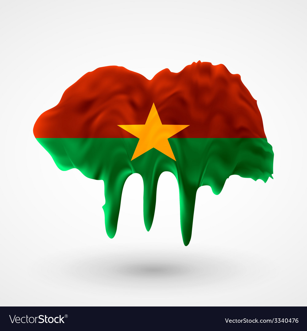 Flag of burkina faso painted colors vector | Price: 1 Credit (USD $1)
