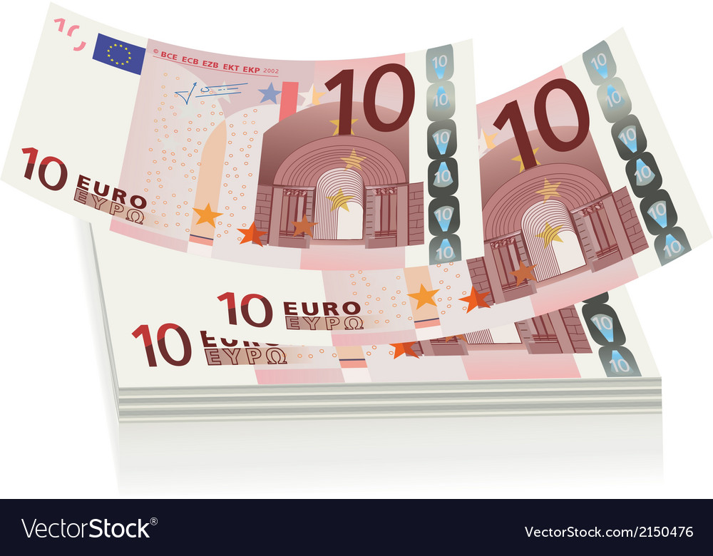 Flying euro bills the concept of success vector | Price: 1 Credit (USD $1)