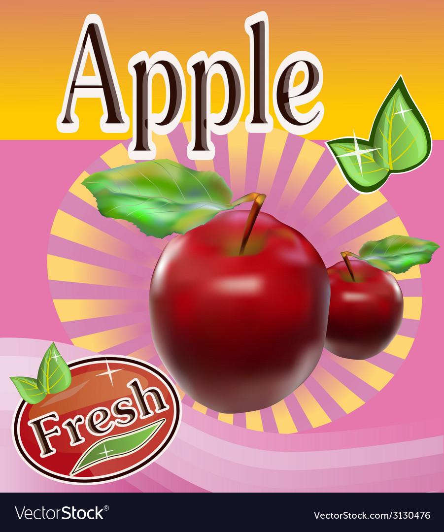 Fresh apple juice banner vector   Price: 1 Credit (USD $1)