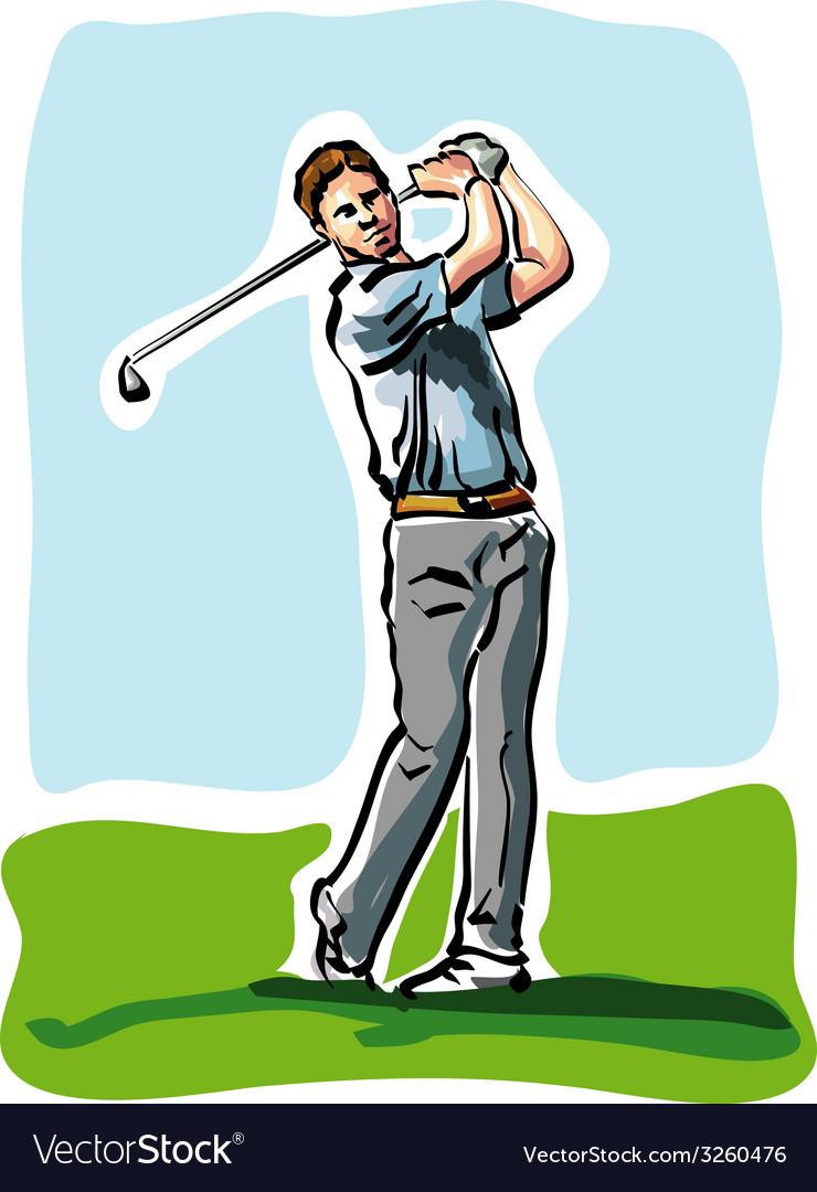 Golf player vector   Price: 1 Credit (USD $1)