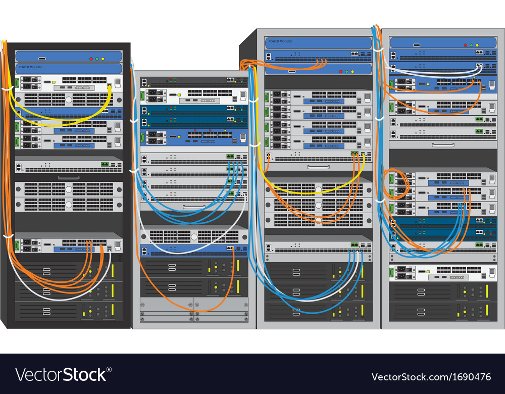 Rack system database machine vector | Price: 1 Credit (USD $1)