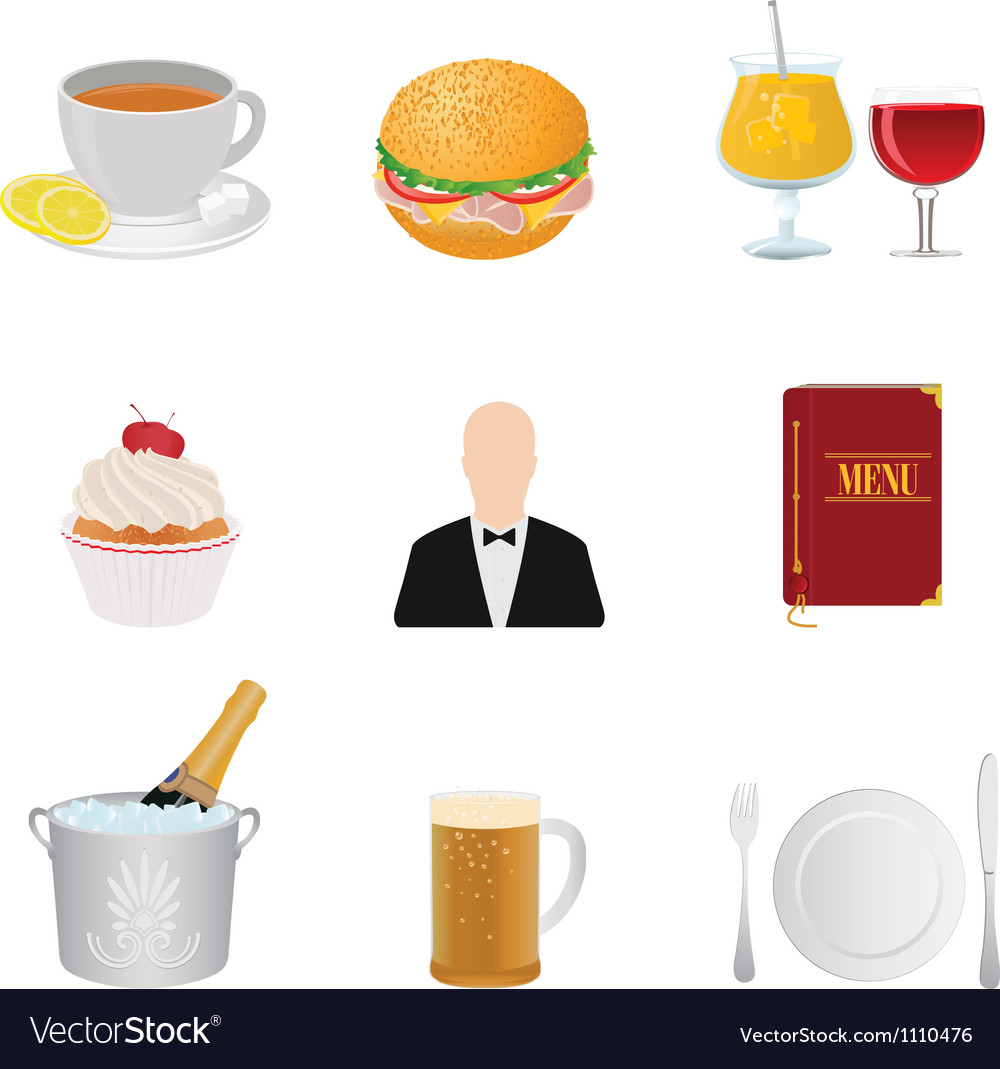 Restaurant and food vector | Price: 1 Credit (USD $1)