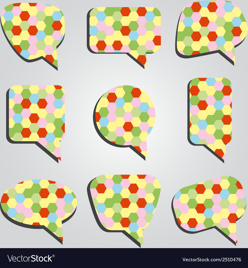 Speak bubbles colorful eps10 vector | Price: 1 Credit (USD $1)