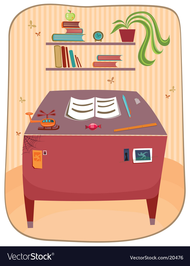 Study room vector | Price: 3 Credit (USD $3)