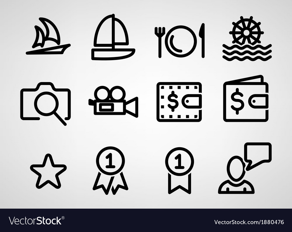 Travel icon vector | Price: 1 Credit (USD $1)