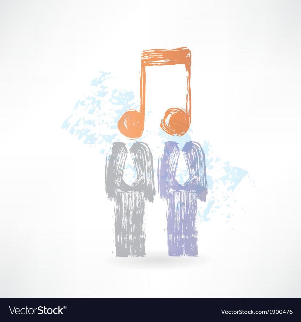 Two men with notes instead of heads vector | Price: 1 Credit (USD $1)
