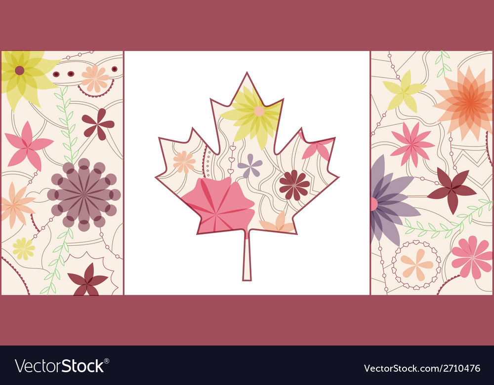Vintage canada flag 2 vector | Price: 1 Credit (USD $1)