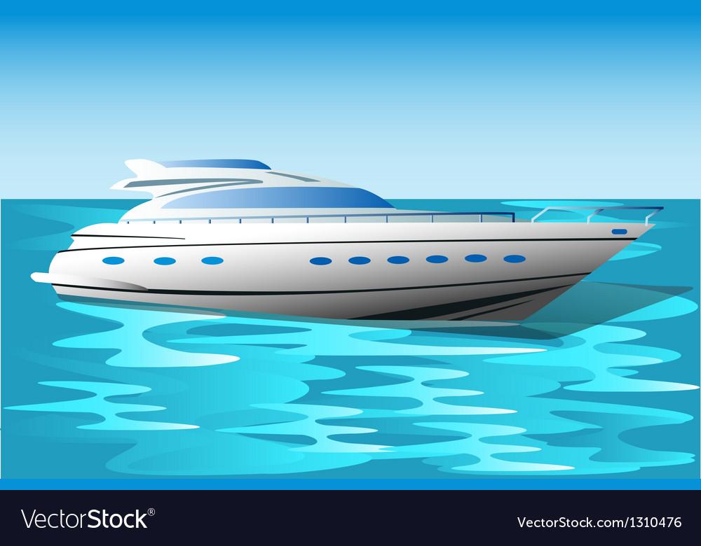 Yacht vector | Price: 1 Credit (USD $1)