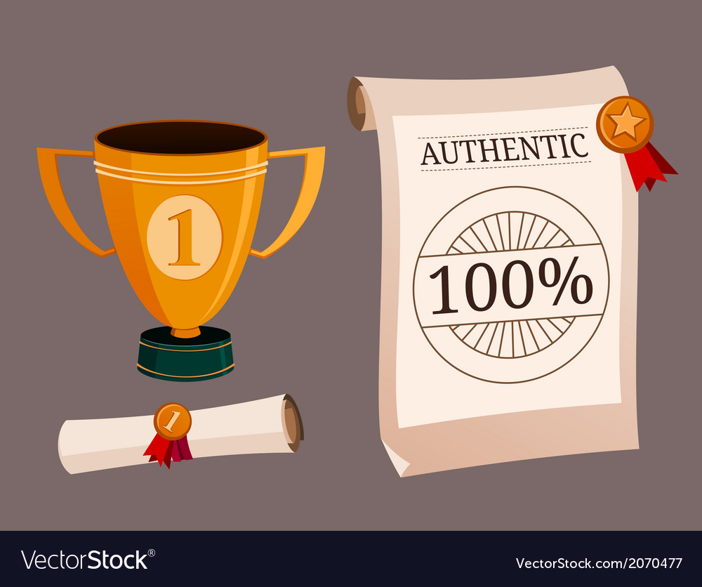 A set of trophy and certificate vector | Price: 1 Credit (USD $1)