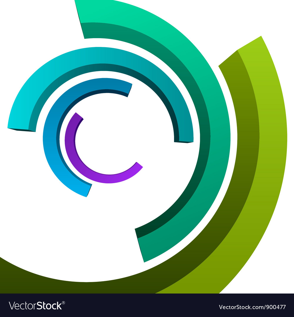 Abstract 3d circle rings backgound vector | Price: 1 Credit (USD $1)