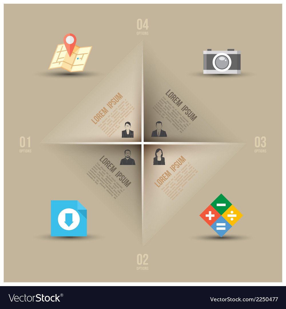 Abstract business info graphics template with icon vector | Price: 1 Credit (USD $1)