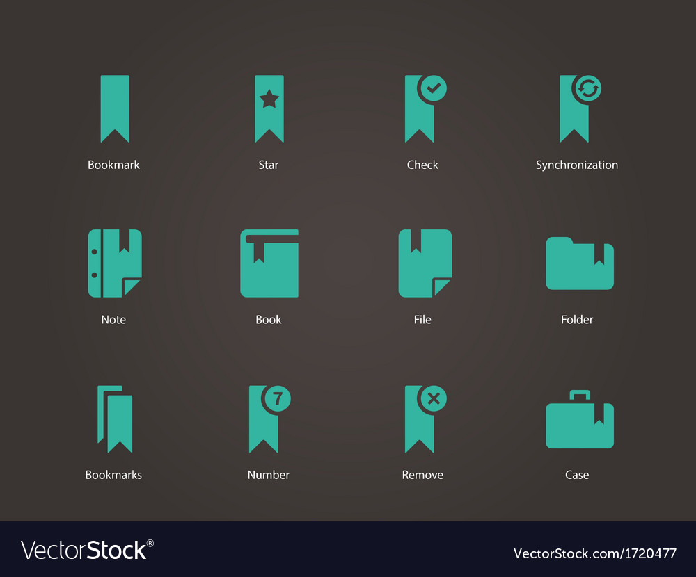Bookmark tag favorite icons vector | Price: 1 Credit (USD $1)
