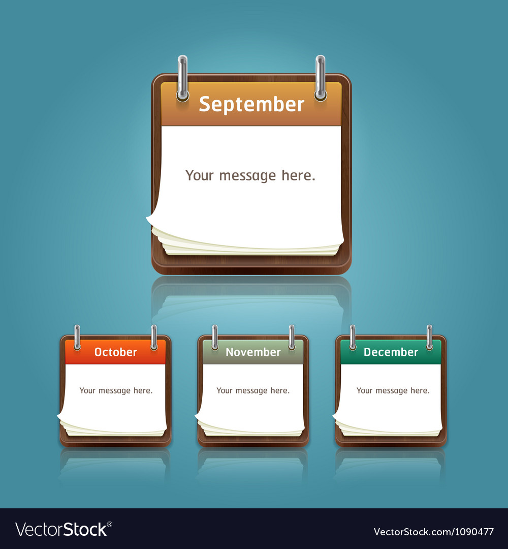 Calendar 2013 template notepad conceptual vector | Price: 1 Credit (USD $1)