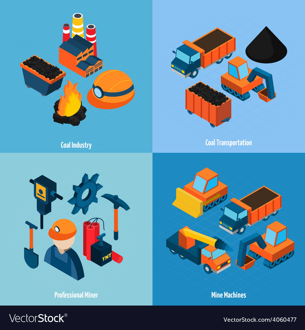 Coal industry isometric vector | Price: 1 Credit (USD $1)