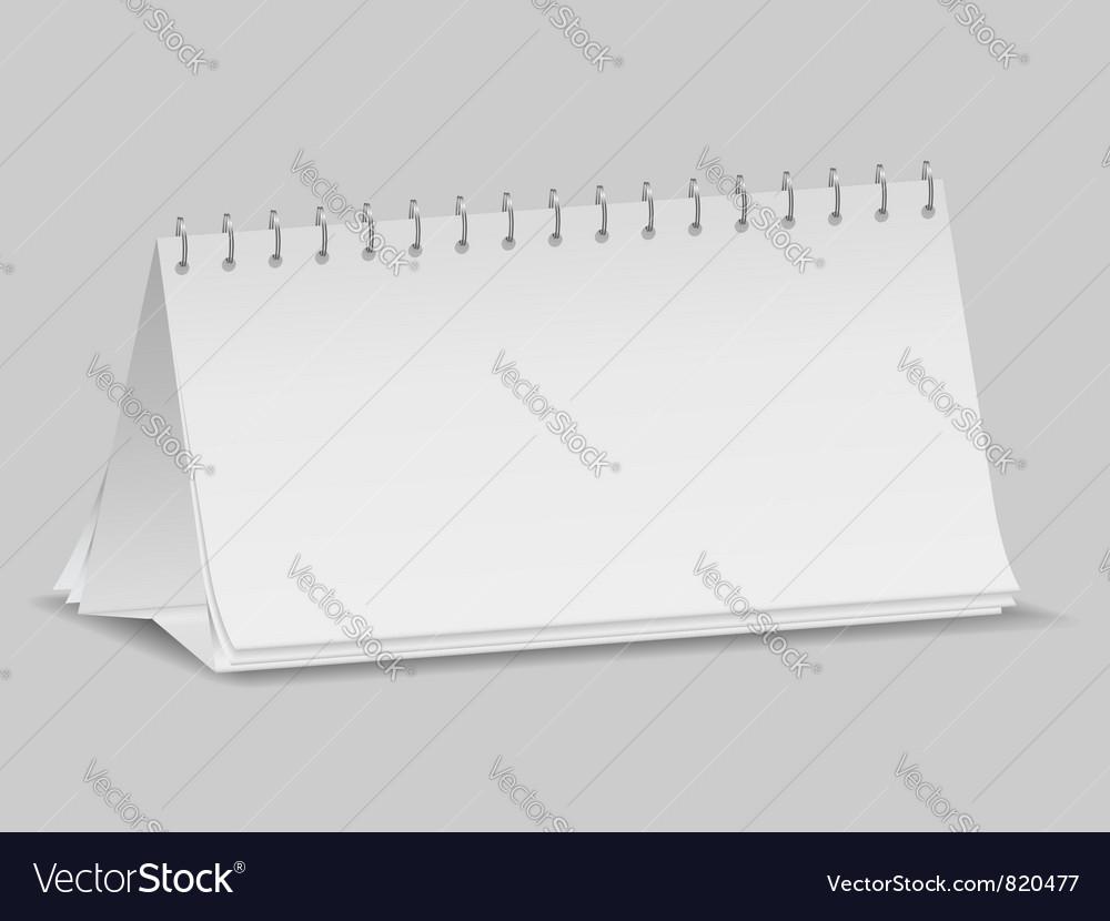 Desktop calendar vector | Price: 1 Credit (USD $1)