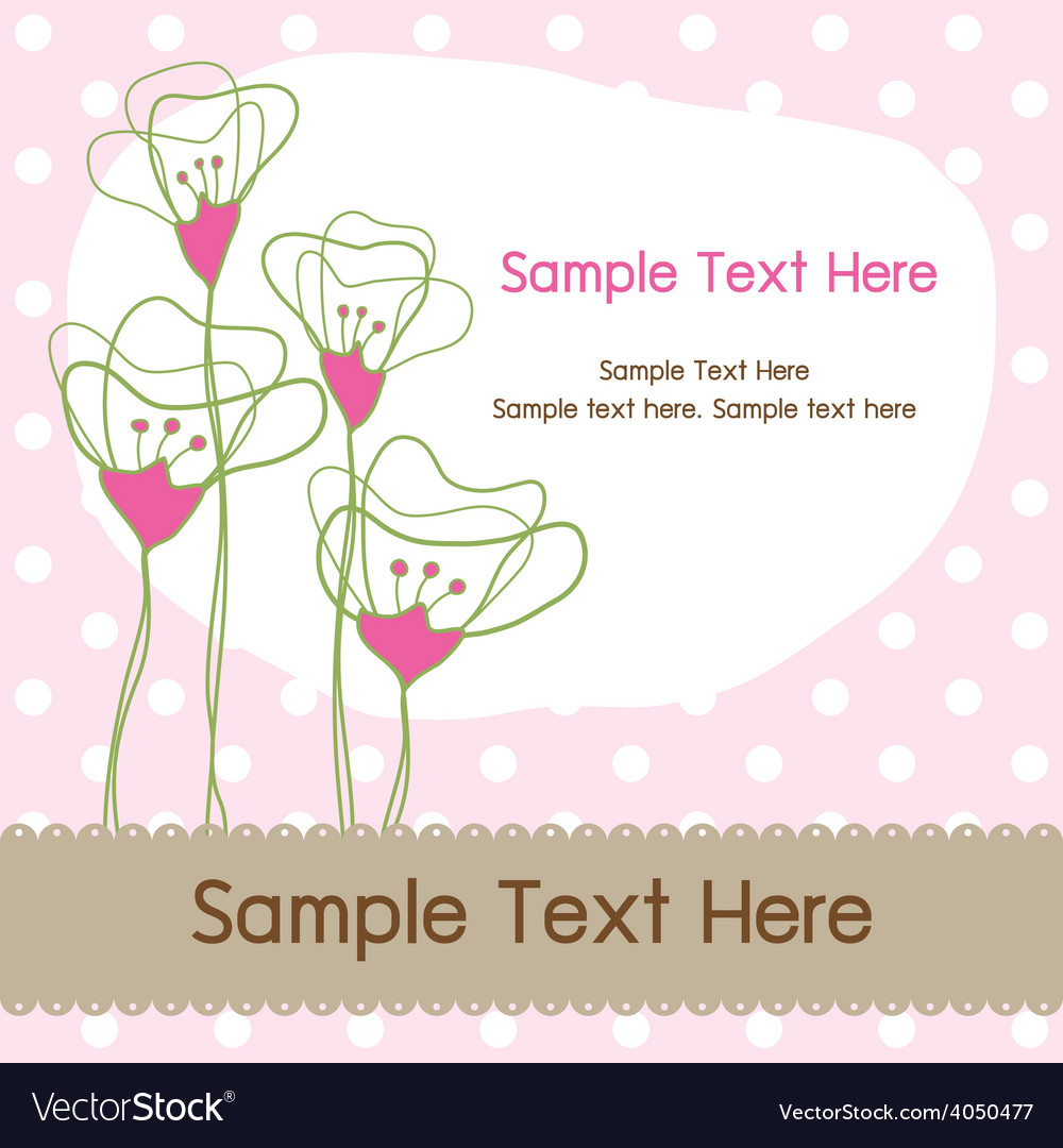 Floral dot graphic card vector | Price: 1 Credit (USD $1)