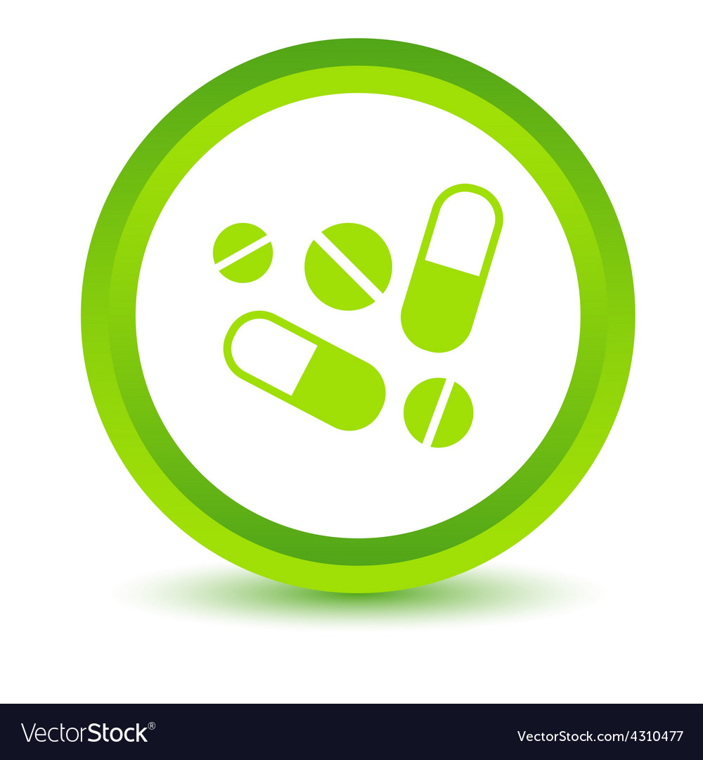 Green medicine icon vector | Price: 1 Credit (USD $1)