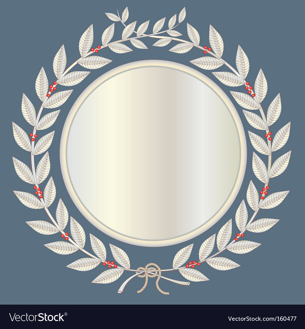 Laurel wreath in silver vector | Price: 1 Credit (USD $1)