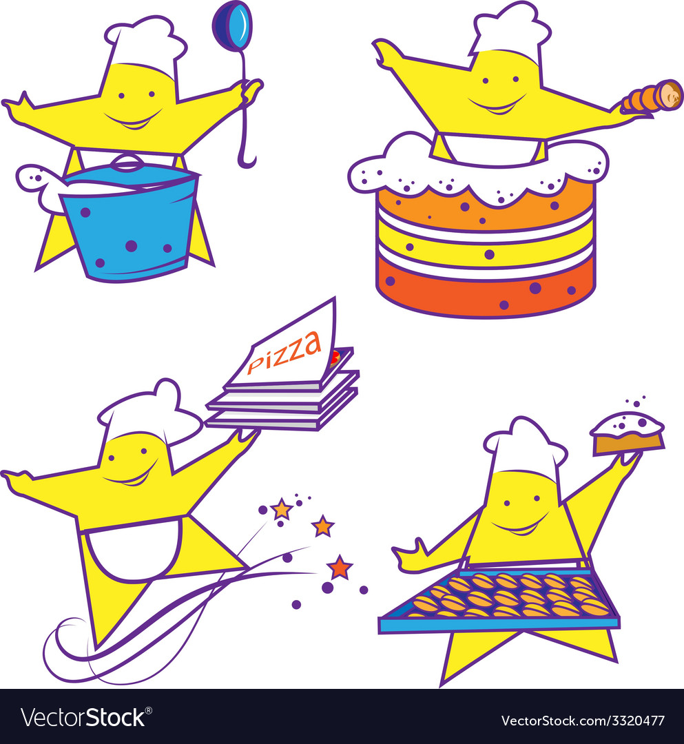 Party abstract cheerful chefs vector | Price: 1 Credit (USD $1)