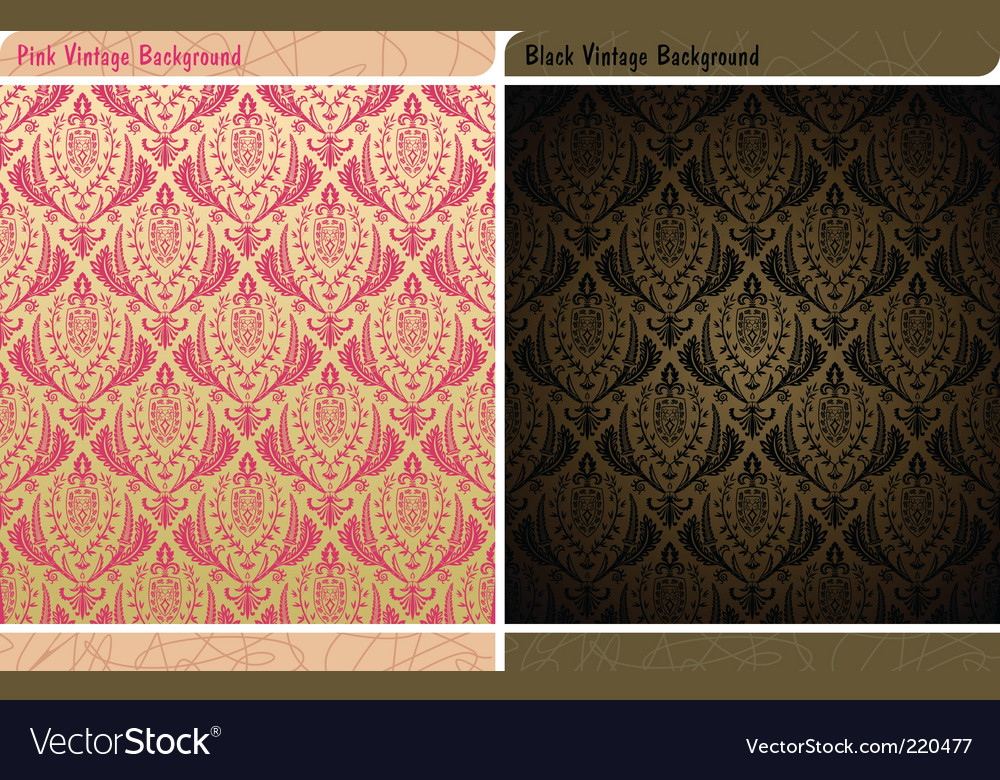 Seamless decor vintage wallpaper background vector | Price: 1 Credit (USD $1)