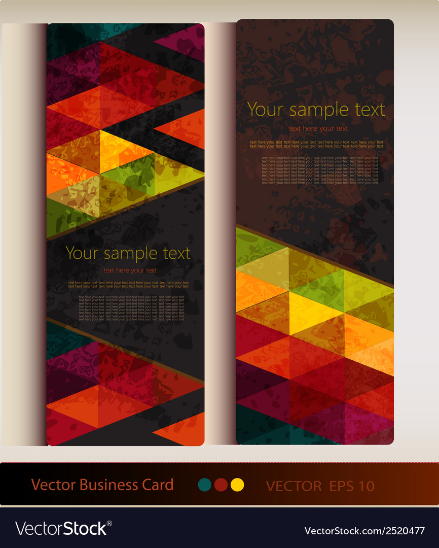 Set of abstract geometric business card vector | Price: 1 Credit (USD $1)