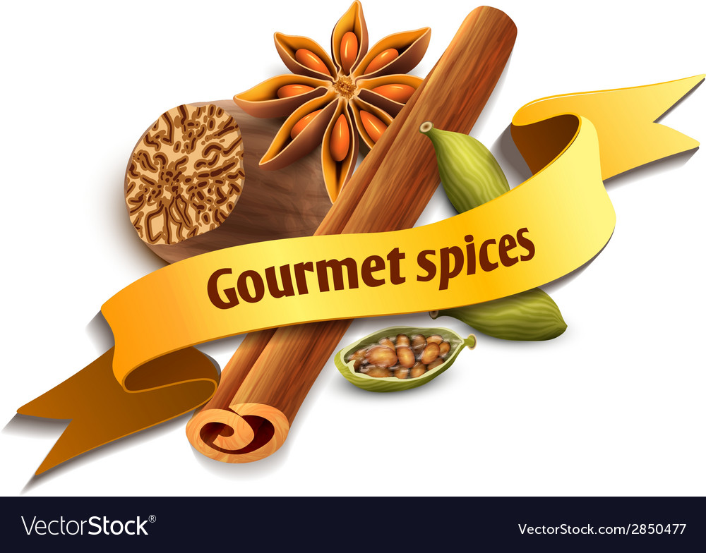Spice ribbon badge vector | Price: 1 Credit (USD $1)