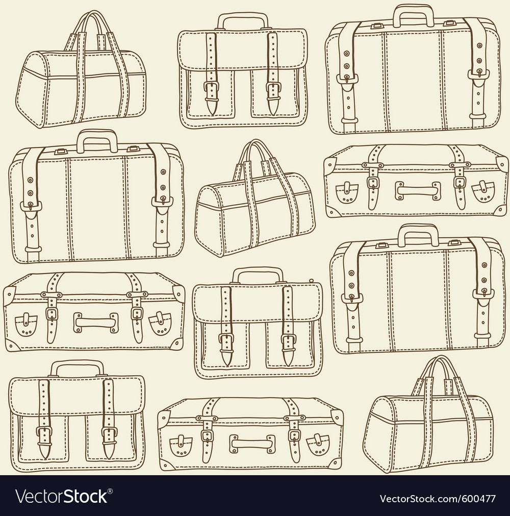 Travel bags seamless pattern vector | Price: 1 Credit (USD $1)