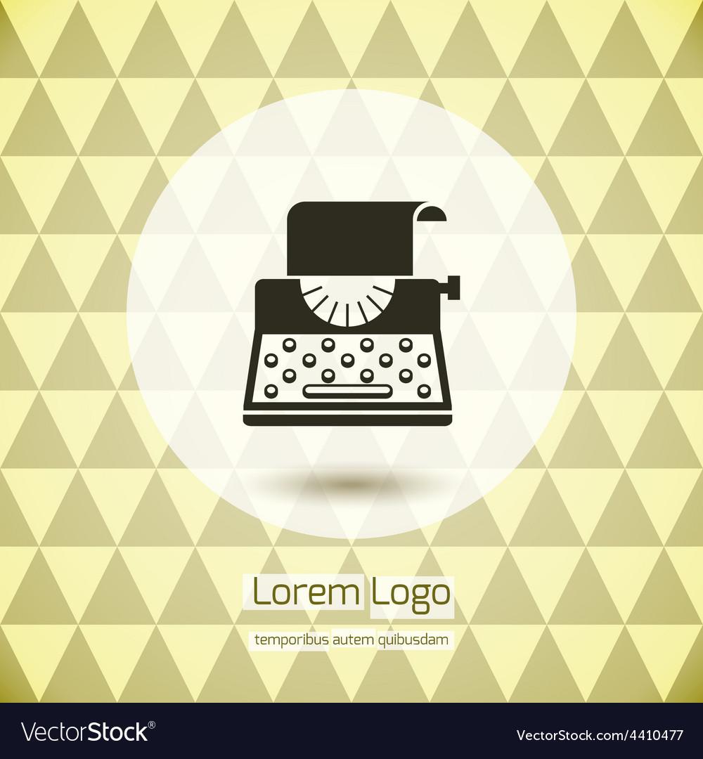 Typewriter logo icon vector | Price: 1 Credit (USD $1)