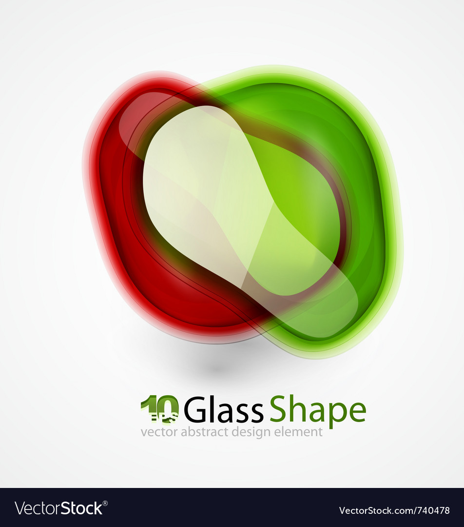 Abstract glass shapes vector | Price: 1 Credit (USD $1)