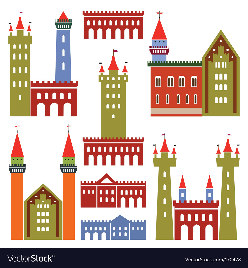 Architecture of castles vector | Price: 1 Credit (USD $1)