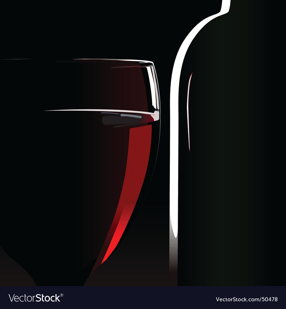 Bottle wineglass vector | Price: 1 Credit (USD $1)