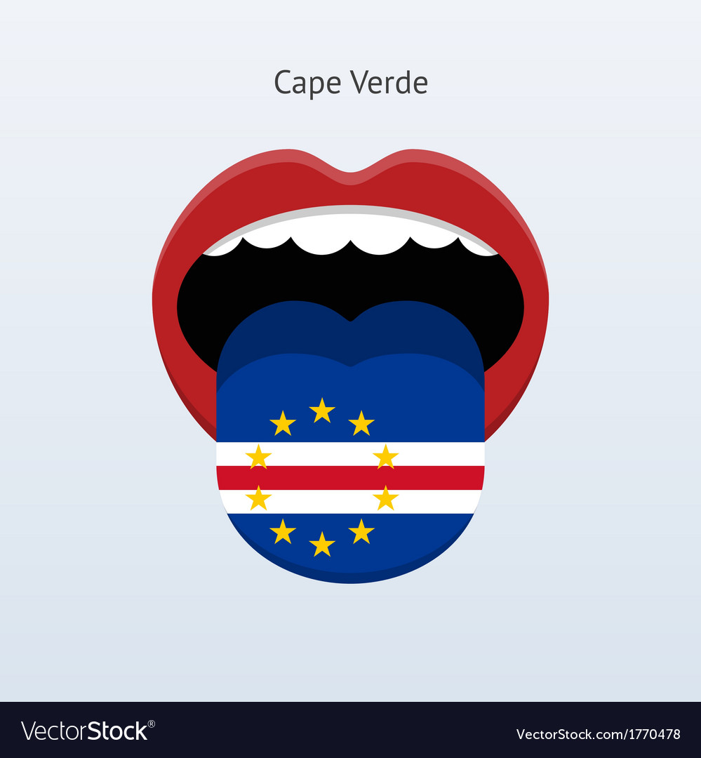 Cape verde language abstract human tongue vector | Price: 1 Credit (USD $1)