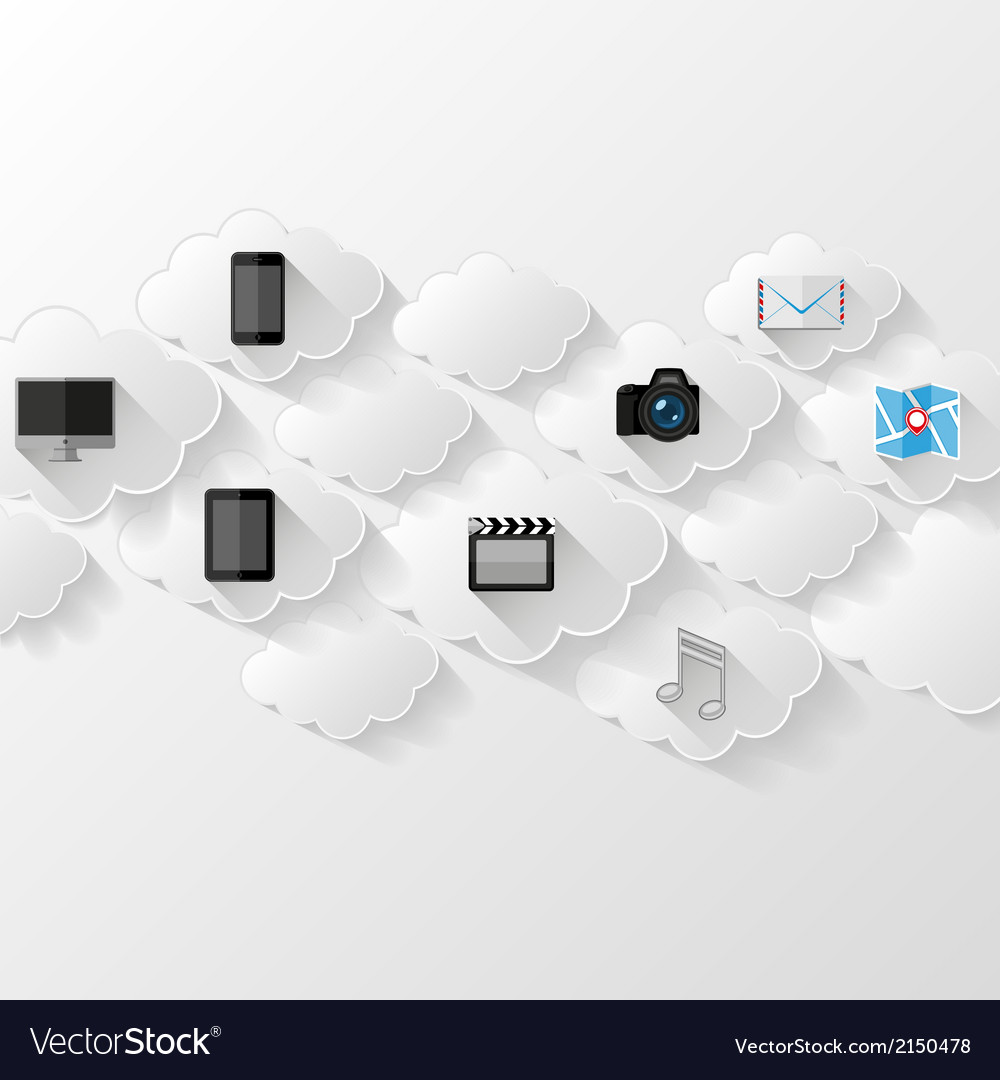 Cloud storage concept vector | Price: 1 Credit (USD $1)