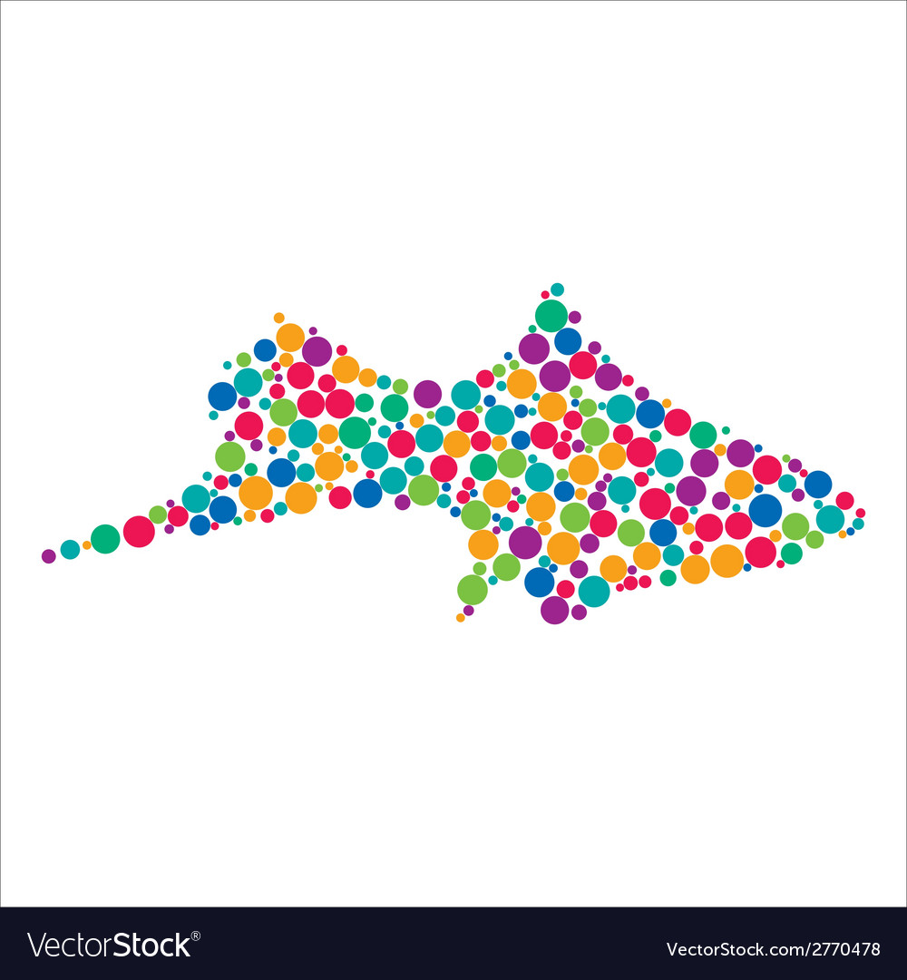 Dotted fish silhouette vector | Price: 1 Credit (USD $1)
