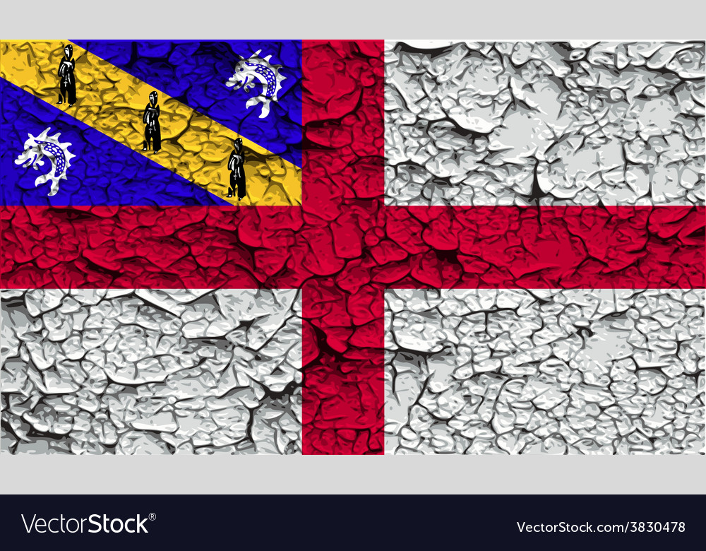 Flag of herm with old texture vector | Price: 1 Credit (USD $1)