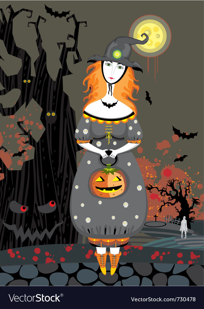 Halloween girl vector | Price: 1 Credit (USD $1)