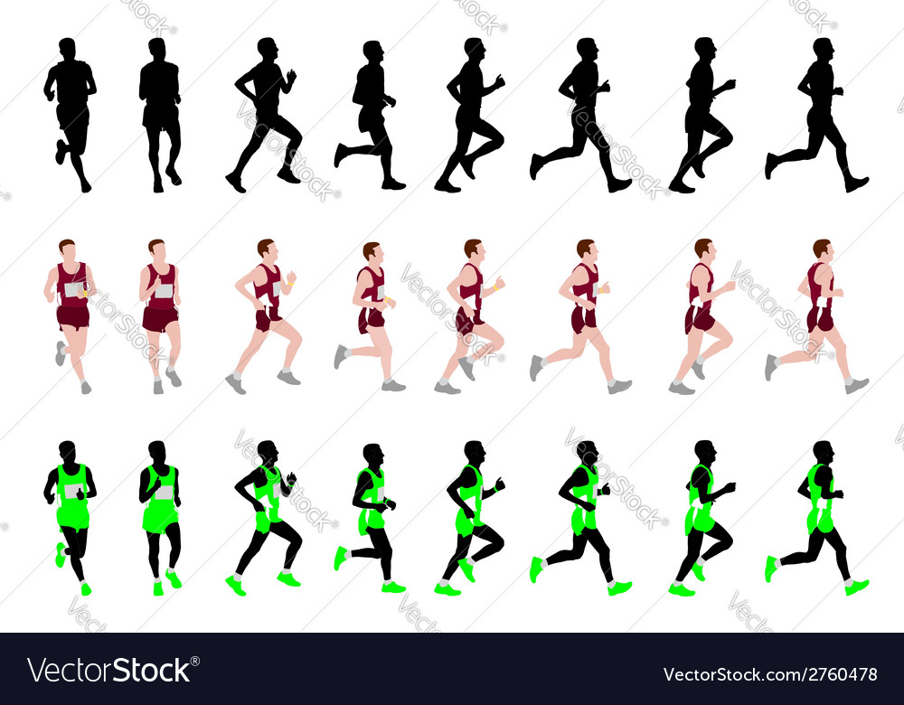 Marathon runner vector | Price: 1 Credit (USD $1)