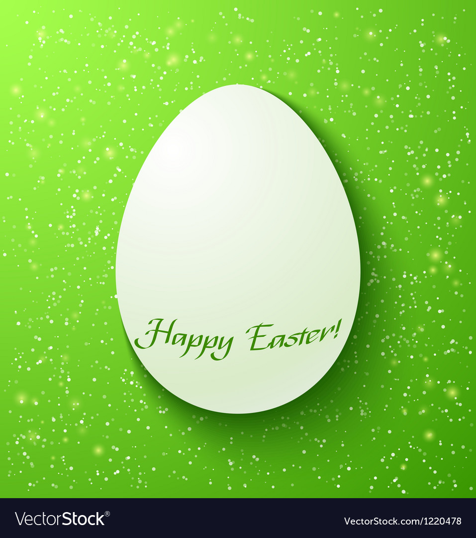 Paper card easter eggs on green background vector   Price: 1 Credit (USD $1)