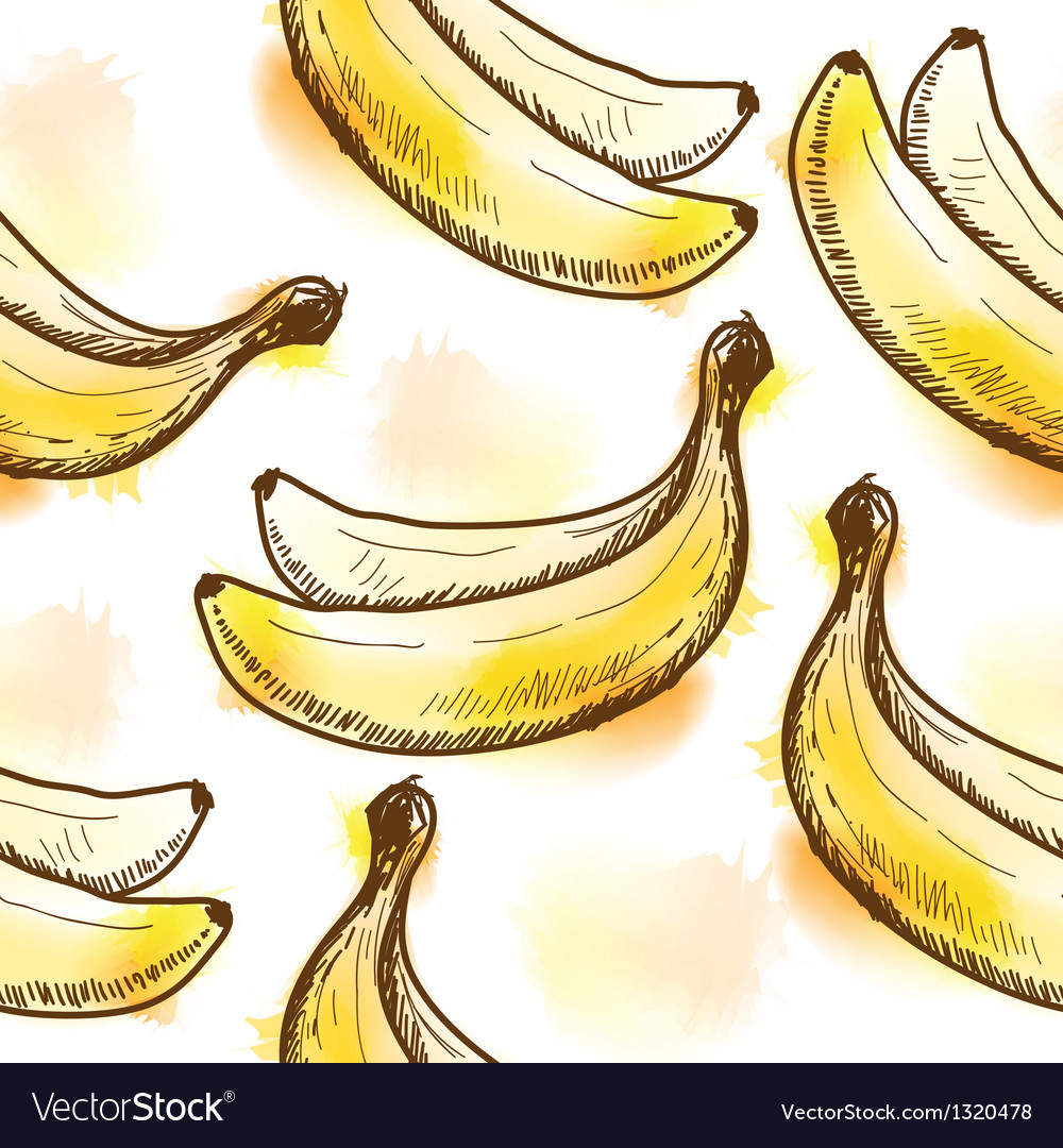 Seamless pattern with banana vector | Price: 1 Credit (USD $1)