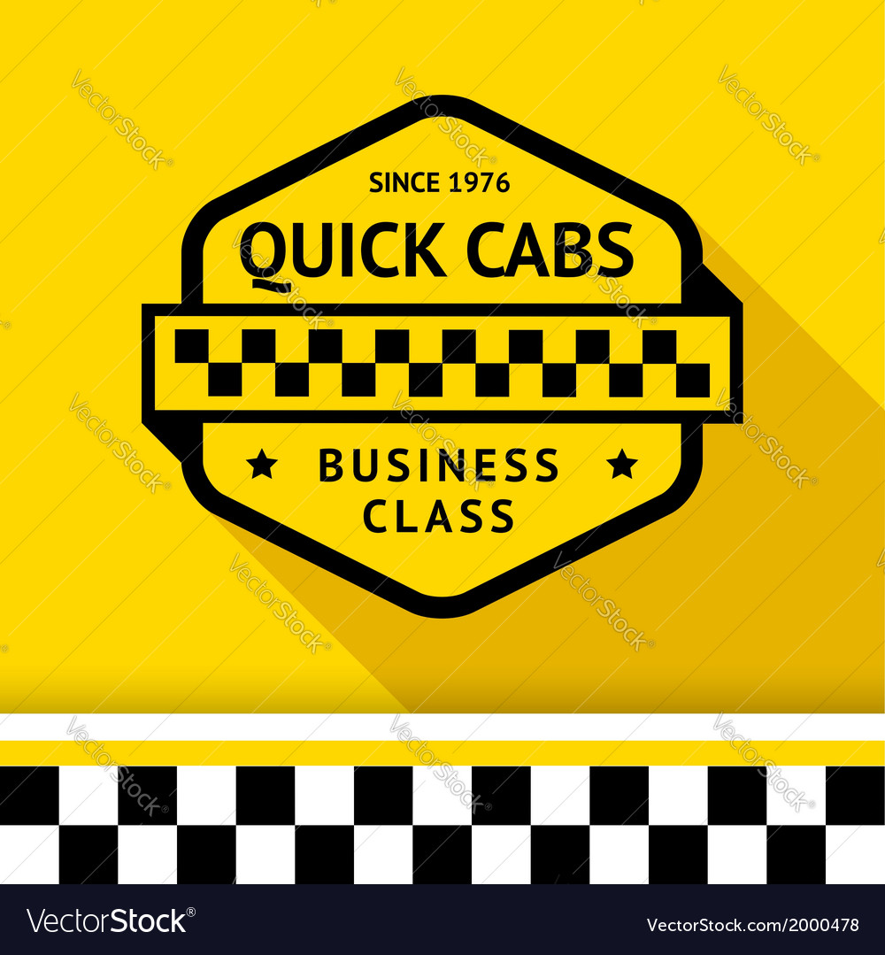 Taxi badge with shadow - 01 vector | Price: 1 Credit (USD $1)
