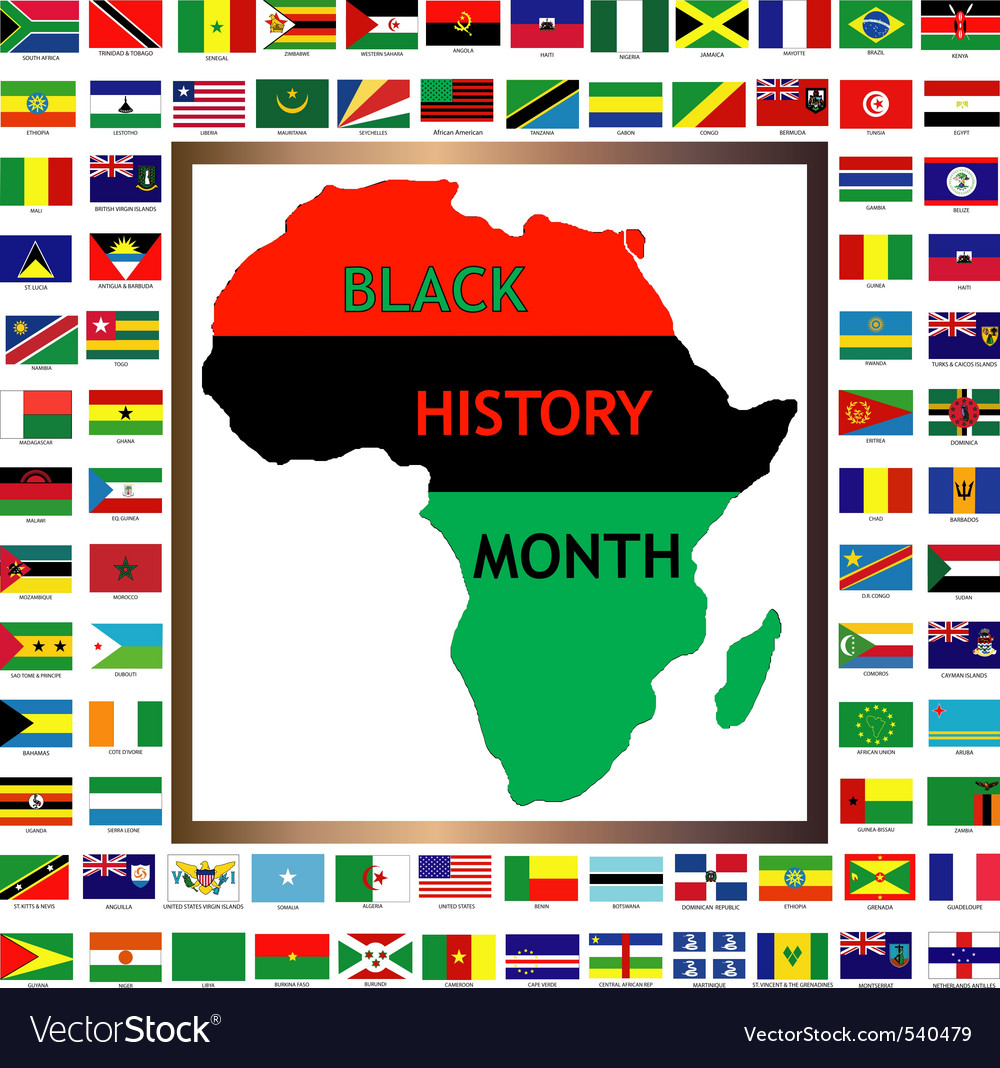 Black history month vector | Price: 1 Credit (USD $1)
