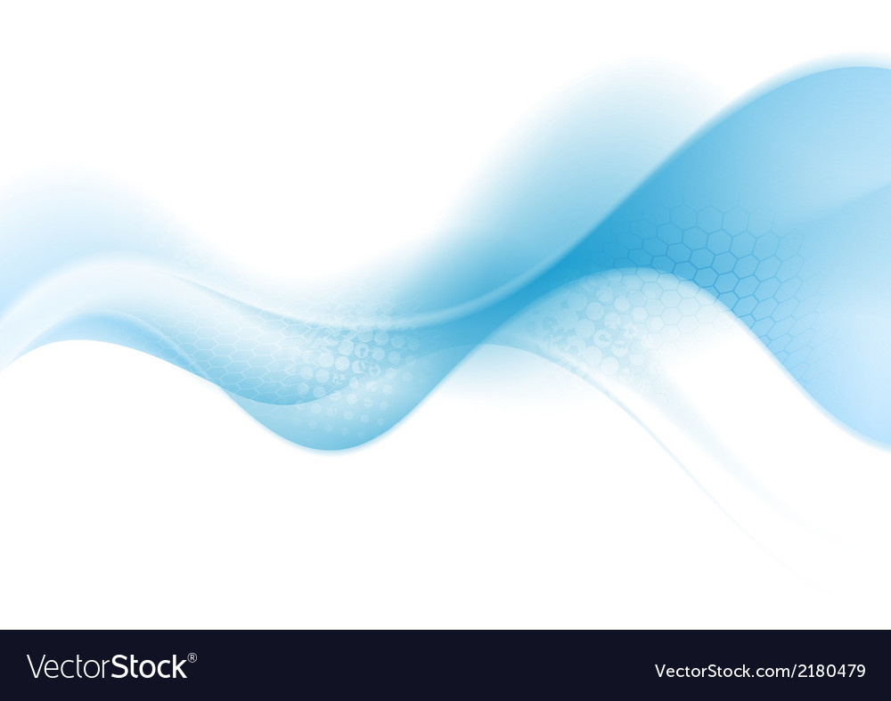 Bright blue abstract wave vector | Price: 1 Credit (USD $1)