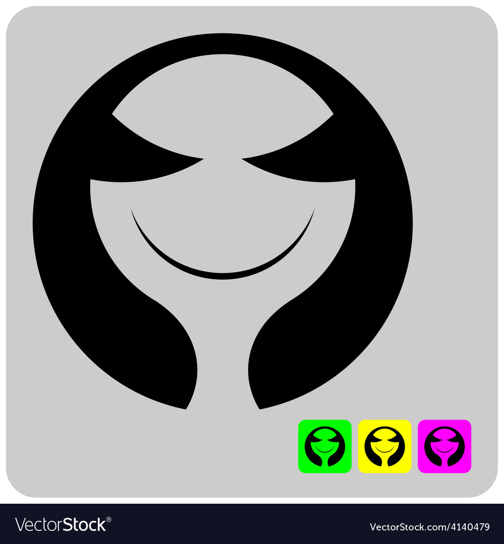 Cheerful stylized alien face vector | Price: 1 Credit (USD $1)